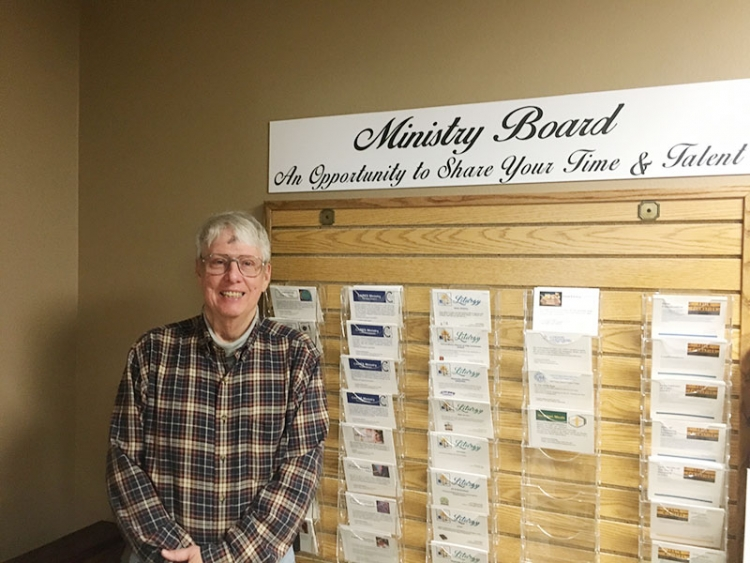 Ministry board constructed for Stewardship Committee