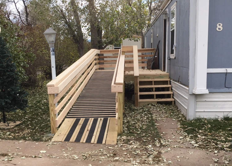 ADA Ramp Built by Knights